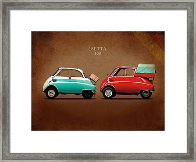 Bmw Isetta 300 Framed Print by Mark Rogan