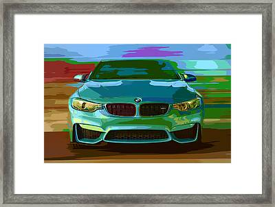 Bmw M4 Seduction Framed Print by Larry Helms