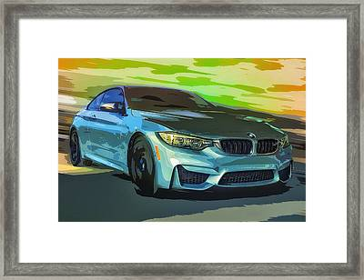 Bmw M4 Speed Framed Print by Larry Helms