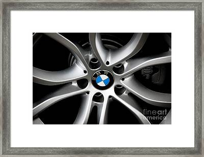 Bmw Wheel Framed Print by Dale Powell