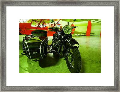 Bmw With A Sidecar Framed Print by Jeff Swan