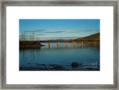 Bnsf Bridge Framed Print by Idaho Scenic Images Linda Lantzy