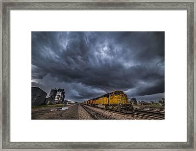 Bnsf Storm Framed Print by Darren  White