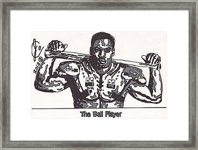 Bo Jackson The Ball Player Framed Print by Jeremiah Colley