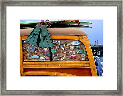 Boards And Woodie Framed Print by Ron Regalado