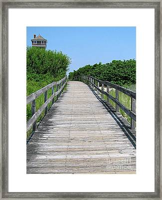 Boardwalk Framed Print by Colleen Kammerer