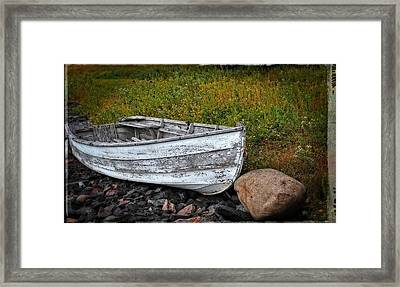 Boat Art - Washed Ashore - By Sharon Cummings Framed Print by Sharon Cummings
