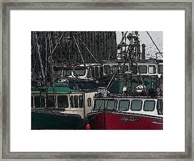 Boat City 2 Framed Print by Roger Charlebois