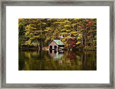 Boat House Framed Print by David Simons