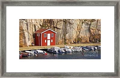 Boat House Framed Print by Lutz Baar