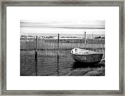Boat In Bay Infrared Framed Print by John Rizzuto
