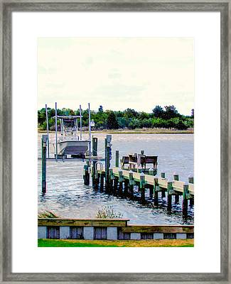 Boat In Swansboro 3 Framed Print by Lanjee Chee