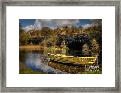 Boat On Llyn Padarn Framed Print by Amanda And Christopher Elwell