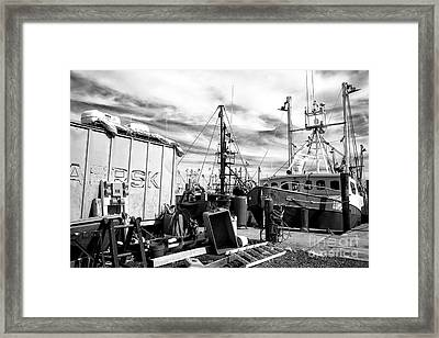 Boat Preparation Infrared Framed Print by John Rizzuto