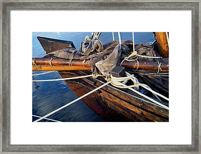Boat Prow Framed Print by Robert Lacy