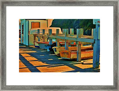 Boat Ride Framed Print by Helen Carson