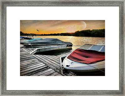 Boat Slip Framed Print by Diana Angstadt
