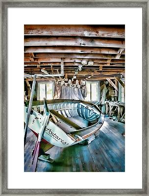 Boathouse Framed Print by Heather Applegate