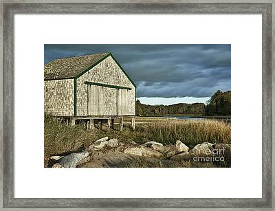 Boathouse Framed Print by John Greim