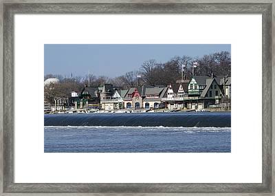 Boathouse Row - Philadelphia Framed Print by Brendan Reals