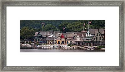 Boathouse Row Philadelphia Pa  Framed Print by Terry DeLuco
