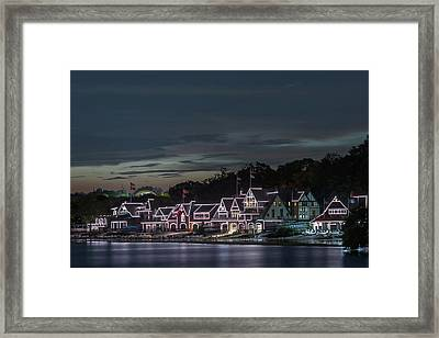 Boathouse Row Philly Pa Night Framed Print by Terry DeLuco