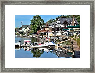 Boathouse Row Reflecting Framed Print by Frozen in Time Fine Art Photography