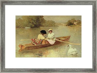Boating On The Seine Framed Print by Ferdinand Heilbuth