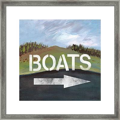Boats- Art By Linda Woods Framed Print by Linda Woods