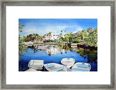 Boats At Fairyland Framed Print by Matthew Phinn