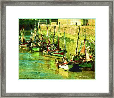 Boats At Honfluer France Framed Print by Fred Jinkins