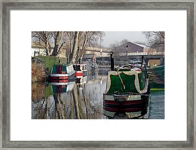 Boats At Horninglow Basin Framed Print by Rod Johnson