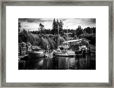 Boats At Lovric's Sea Craft, Washington Framed Print by TL Mair
