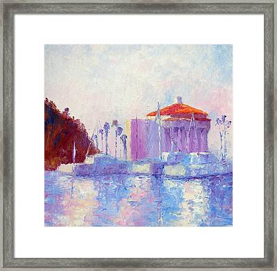 Boats At Sunset Framed Print by Terry  Chacon
