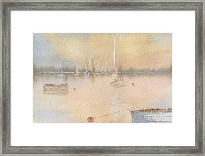Boats In A Marina 2. Framed Print by Kim Hamilton