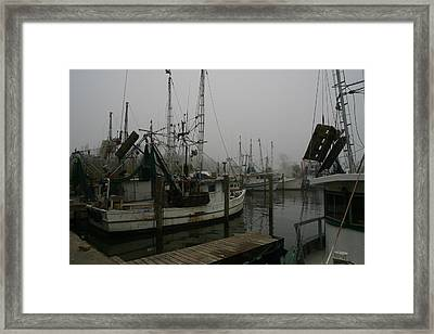 Boats In Harbor Framed Print by James Campagna