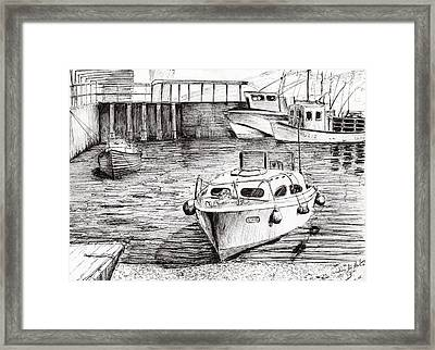 Boats Islay Scotland Framed Print by Vincent Alexander Booth