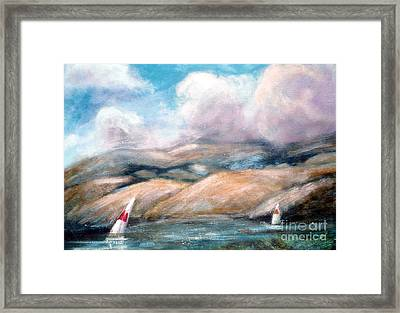 Sailing Toward Home Framed Print by Marcy  Orendorff