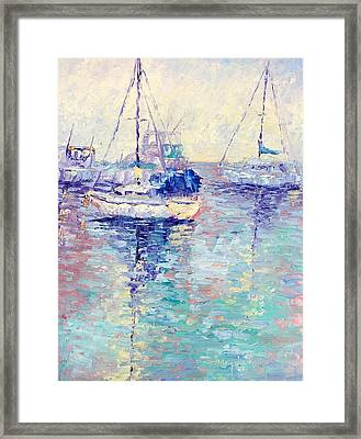Boats Framed Print by Terry  Chacon