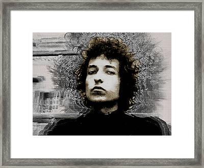 Bob Dylan 4 Framed Print by Tony Rubino