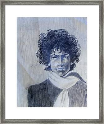 Bob Dylan In The Rock Years Framed Print by Judith Redman