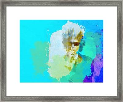 Bob Dylan Framed Print by Naxart Studio