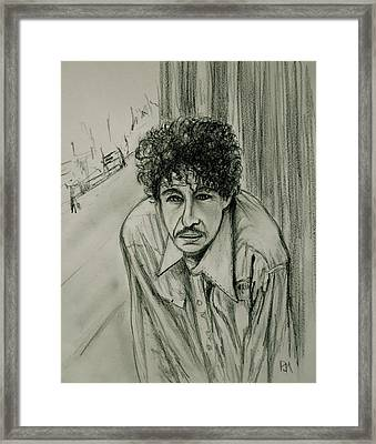 Bob Dylan Framed Print by Pete Maier