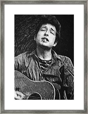 Bob Dylan Framed Print by Taylan Soyturk