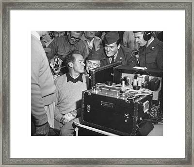 Bob Hope At Pebble Beach Framed Print by Julian Graham