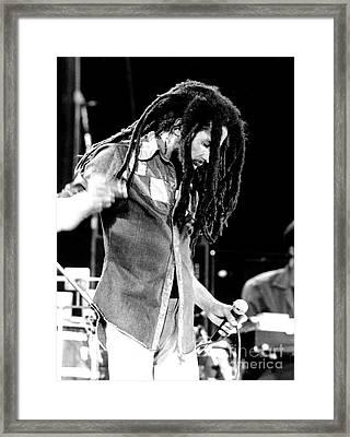 Bob Marley 1979 Dreads Framed Print by Chris Walter