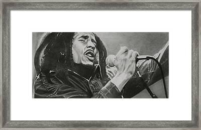 Bob Marley Framed Print by Don Medina
