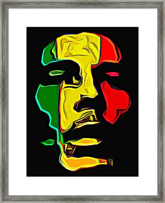 Bob Marley Framed Print by  Fli Art