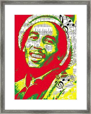 Bob Marley Musical Legend Framed Print by Brad Scott