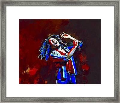 Bob Marley Portrait Framed Print by Scott Wallace